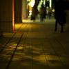 ショーウィンドウの影
