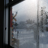 結露の窓から