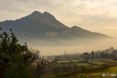 湯布岳の朝