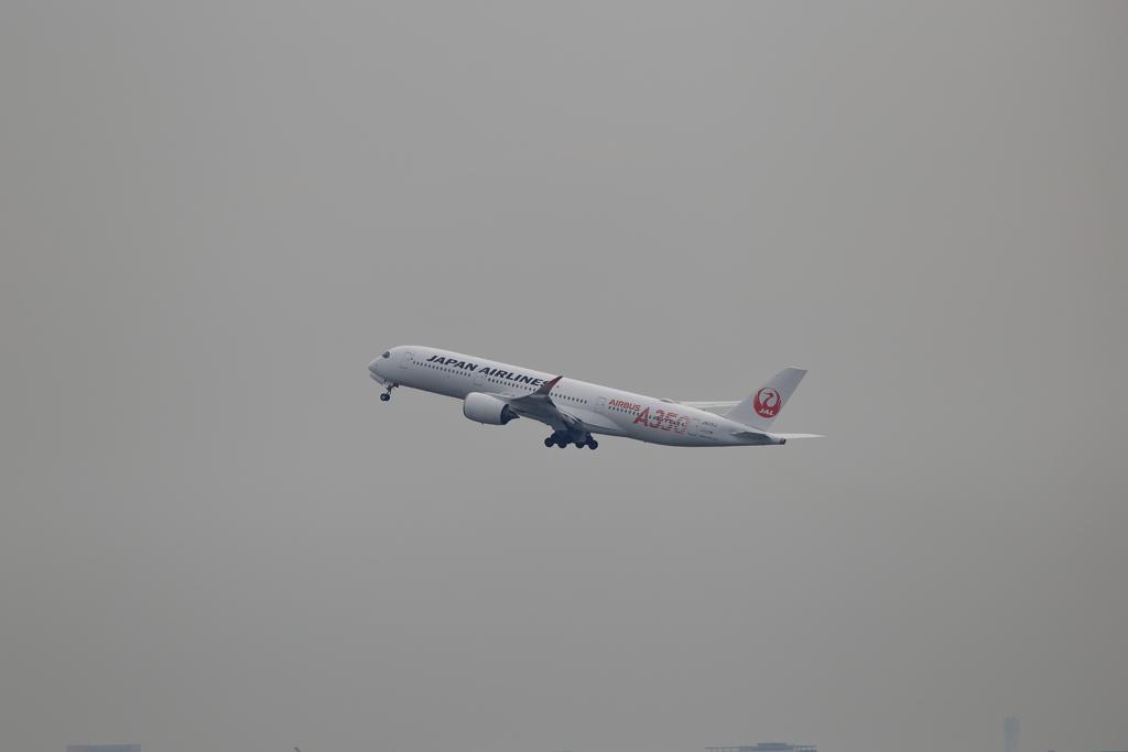 A350の離陸