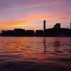 晴海運河の夕暮れ
