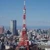 世界貿易センタービルの展望台から東京タワーを