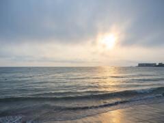 一色海岸の夕暮れ