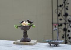 奥さんのお庭  テーブルの上