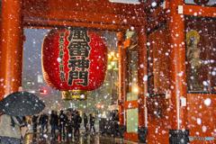 浅草寺 雪景色3