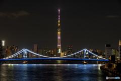 清洲橋ライトアップ