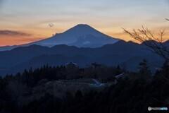 富士山と展望台