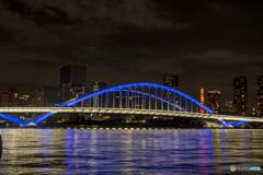 築地大橋ライトアップ