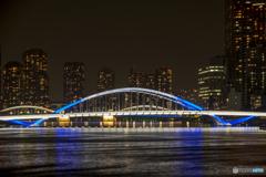 築地大橋ライトアップ2