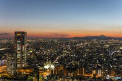 都内からの富士山