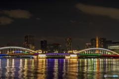 勝鬨橋 オリンピックカラー