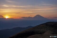 箱根駒ヶ岳の夕景