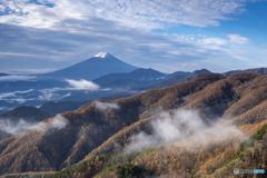 姥子山からの紅葉