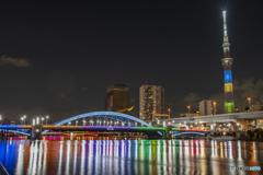 駒形橋 オリンピックカラー