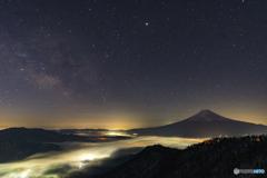 星空と雲海