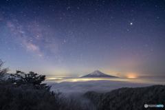 雲海と天の川