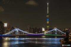 清洲橋 オリンピックカラー