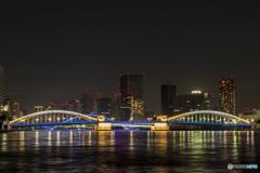 勝鬨橋ライトアップ