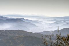 虫倉山より雲海を望む