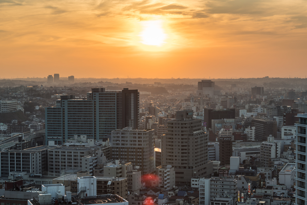 横浜の夕景