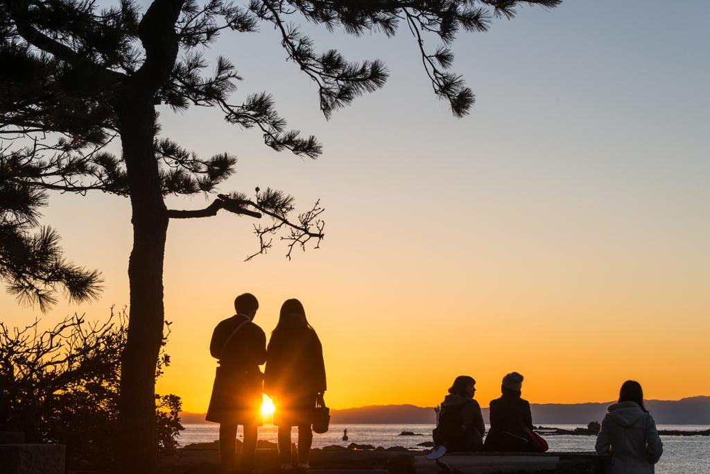森戸の夕陽