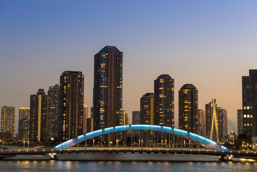 永代橋の夕景