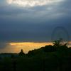 円環の夕日