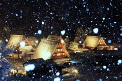 雪の菅沼合掌造