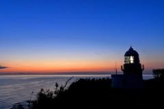 禄剛崎灯台の朝