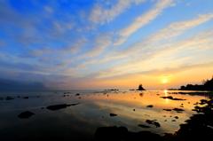 雨晴海岸の筋雲#2