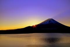 本栖湖 日の出