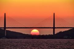 内灘大橋 Sunset