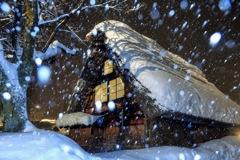 吹雪の五箇山