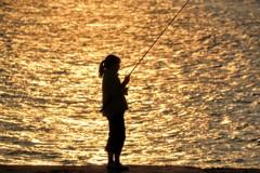 ポニーテールと釣り竿