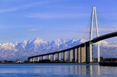 剱岳に続く大橋