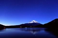 本栖湖 月夜の富士