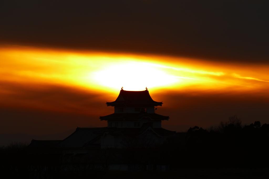 関宿城夕景 3