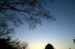 鶴舞公園の夕日