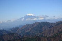 塔の岳から見える富士山