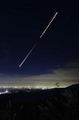 10月8日の皆既月食と名古屋の夜景