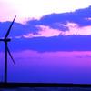風車の夕暮れ