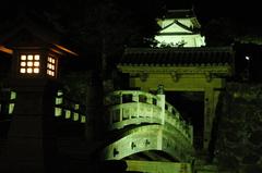 但馬國 出石藩 夏祭り 夜の出石城・登城門①