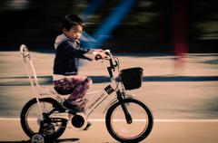 自転車で疾走