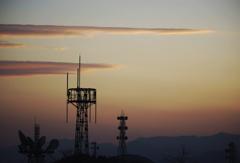 鉄塔のある夕景 原点回帰