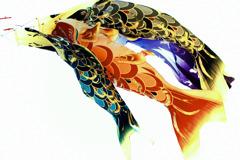 皐月鯉幟図