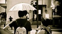 炎天・小日傘