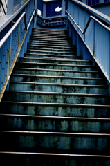 stairs in blue