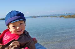 君の笑顔と秋の海
