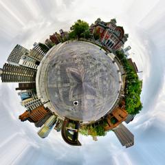 中之島-大阪市中央公会堂をHDR+惑星風