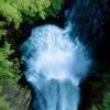 鳴沢の滝 滝壺真上から